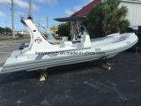 Barco de patrulha militar do barco inflável da casca da fibra de vidro de Liya 6.6m para a venda