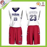 スポーツ・ウェアのバスケットボールのウォーミングアップの均一昇華男子バスケットボールジャージーをカスタム設計しなさい