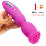 Calefacción inteligente de juguetes sexuales para mujeres poderosas de la velocidad de 12 AV Magic Wand masajeador vibrador G Spot estimulador de clítoris