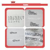 Código/etiqueta de plástico de papel/impresora de inyección de tinta grande del carácter