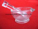 Bailo recipiente de cristal de cuarzo el Mortero con mano de mortero para uso en laboratorio