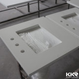 """顧客用62 """"白い人工的な石造りの水晶台所カウンタートップ"""