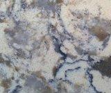 줄무늬 디자인에 있는 석영 돌 석판