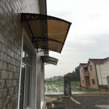 De duurzame Luifel van het Zonnescherm van Gazebo van de Tuin van het Dak van het Metaal van de Deur met de Montage van de Luifel van het Aluminium