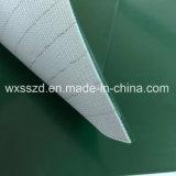 Плоская конвейерная лента PVC зеленая для производственной линии