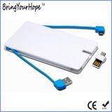 banco da potência do projeto de cartão 4000mAh com a vara do USB de OTG (XH-PB-254)