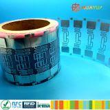 Etiqueta de papel passiva forte da freqüência ultraelevada do estrangeiro 9662 H3 RFID da colagem 860~960MHz MPE GEN2
