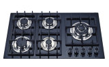 Buena cocina Jzg53201b de la estufa de gas del surtidor de China del vidrio Tempered del negro del precio