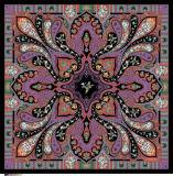 Écharpe en soie carrée estampée par coutume