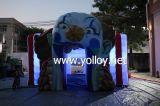 Wütender Clown-aufblasbares Würfel-Zelt mit LED-Licht