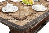 Tabela de alumínio ao ar livre/do jardim/Patio/Rattan& com Tabletop de mármore HS7602dt