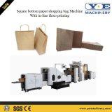 Saco de papel do alimento inferior quadrado automático que faz a máquina com impressão