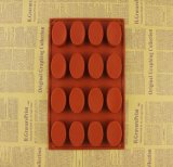 16 La cavité forme ovale Biscuit Soap moule cake en silicone