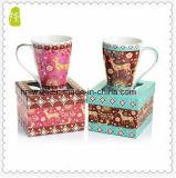 Venta al por mayor 11oz de cerámica V en forma de taza de café para la venta