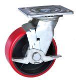 피마자 바퀴 철 허브 PU 바퀴 회전대 피마자