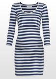 Vestido de Maternidad de Enfermería de rayas azul