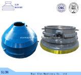 Minyu Msp200の円錐形の粉砕機はボールのはさみ金、ふたおよび凹面を分ける