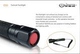 Linterna táctica de la profesión LED, alta intensidad de luz y distancia lejana de la viga, batería recargable, operación dual del interruptor