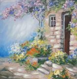 아름다운 성격 조경 유화 화포 벽 예술