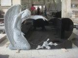 Concevoir la pierre tombale bleue de granit de Bahama de type américain