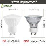 Ce RoHS початков GU10 7Вт Светодиодные лампы лампы наружного кольца подшипника в центре внимания