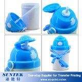 le plastique de blanc de la sublimation 400ml badine la bouteille d'eau d'enfants