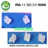 Parentesi di ceramica trasparenti delle parentesi della base di ceramica ortodontica della maglia