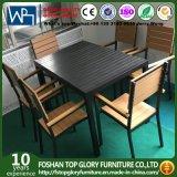 La cena de los muebles del patio fija sillas de vector de los conjuntos de los muebles