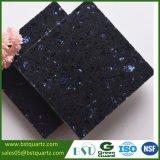 piedra negra del cuarzo de los 2cm con los primeros ordenes cristalinos para la encimera