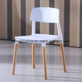 Aspecto escandinavo moderno de diseño especial de los países nórdicos PP blanco silla con patas de haya