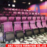 Cojín de tela azul silla Teatro asientos Yj1805b