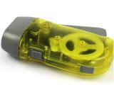 Mini manovella della torcia elettrica della dinamo LED del migliore regalo promozionale, stampaggio a mano