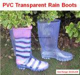 Laarzen van de Regen van de Kwaliteit van Gao de Transparante, Cheapnesstransparent Laarzen, de Populaire Laars van de Regen van de Stijl