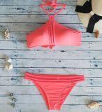 Swimwear Бикини Spandex горячей новой остановки конструкции 2018 верхний померанцовый Nylon