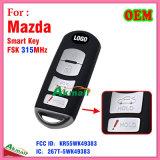 Chave esperta do carro de Vdo Mazda com 4 o FCC ID-Kr55wk49383 das teclas 315MHz