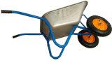 Wheelbarrow galvanizado de duas rodas para a construção ou o jardim