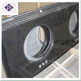 Controsoffitto nero misura personalizzato del granito/Worktop/parte superiore di vanità
