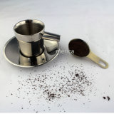 Cuillère à mesurer au café en acier inoxydable réutilisable en cuivre