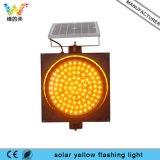 Indicatore luminoso d'avvertimento infiammante del lampeggiatore giallo solare dei lavori di costruzione
