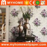 106cm breite Breite geprägte Vinyltapete mit Blume