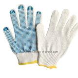 Высокое качество пунктирной отбеливатель белый 10 указатели хлопок перчатки