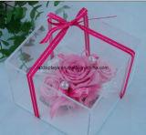 Boda personalizada Wholesales acrílico transparente Caja de flores