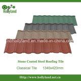 Tuile en métal revêtue de pierre colorée (type classique)
