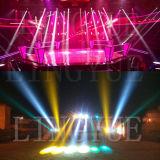 O estágio DJ de DMX que move o azul de Beam200 5r ilumina-se