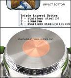 Ensemble de cuisson sans eau inoxydable Set Copper Core Bottom