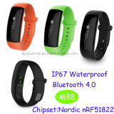 Nuovi IP67 sviluppati impermeabilizzano il braccialetto astuto con la frequenza cardiaca