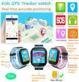 점화 D26를 가진 지능적인 GPS 추적자 시계가 Touch-Screen에 의하여 Sos 농담을 한다