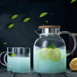 Reeks de Met hoge capaciteit van de Waterkruik van het Glas van de Kruik van het Water van het Glas van de Ketel van de Thee van Pyrex van het huishouden