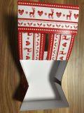 Boîte compressible amicale à nourriture de papier d'Eco Brown emballage avec la bande
