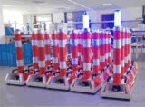 colonna flessibile riflettente di Delineator di traffico stradale 100W con l'indicatore luminoso e l'altoparlante dello stroboscopio
